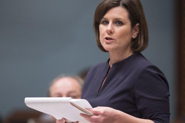 La ministre Stéphanie Vallée«condamne ce genre de propos:... (Archives La Presse Canadienne)
