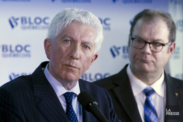 Gilles Duceppe et Mario Beaulieu... (PHOTO CHRISTINNE MUSCHI, REUTERS)