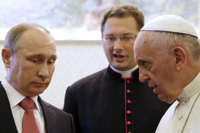 Le président Poutine a été reçu au Vatican... (Photo: AFP)