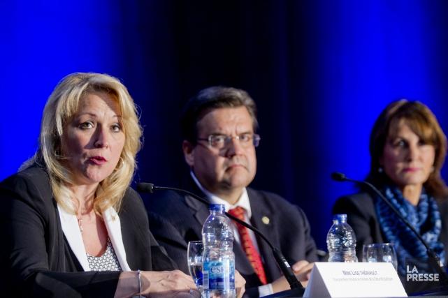 La ministre de la Sécurité publique Lise Thériault... (PHOTO MARCO CAMPANOZZI, LA PRESSE)