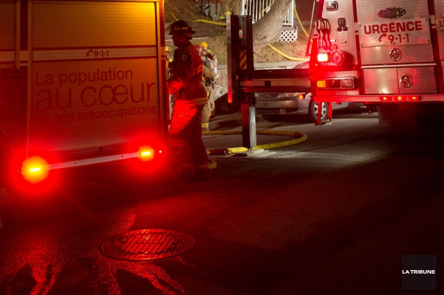 L'intervention rapide des pompiers de Sherbrooke a permis de limiter de façon... (Archives La Tribune, René Marquis)
