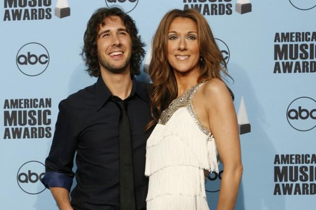 Josh Groban et Céline Dion à Los Angeles... (Archives AP)