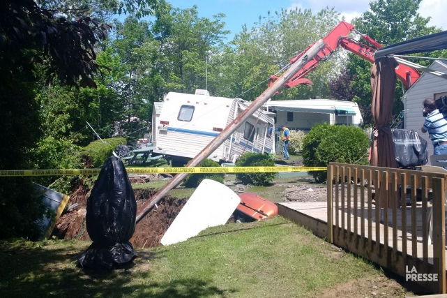 Au Camping Panoramique, situé rue François-Gignac, les dégâts... (Photo fournie par Marie-Michelle Allard)
