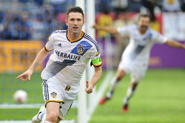 L'attaquant irlandais Robbie Keane a prolongé son entente avec le Galaxy de Los... (Photo: Reuters)