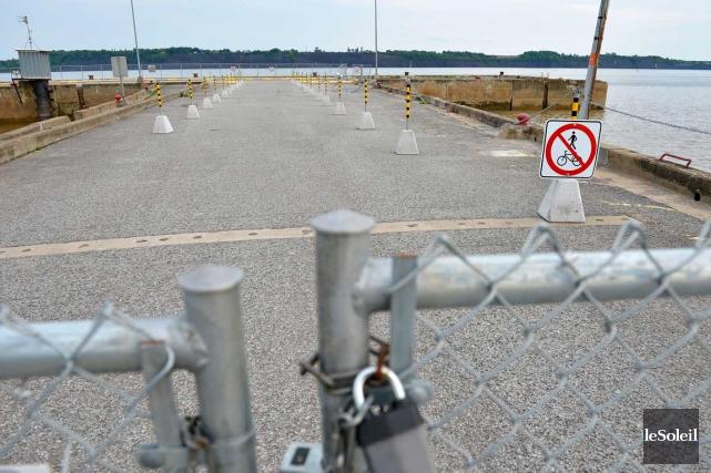 Selon Transports Canada, l'extrémité du quai de Portneuf... (Le Soleil, Yan Doublet)
