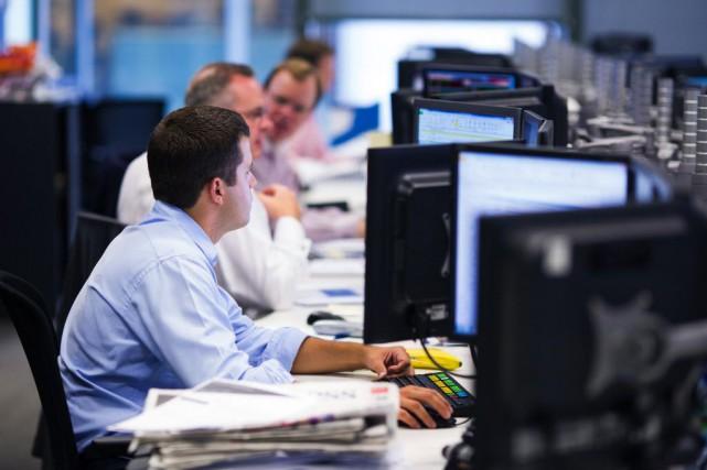 Le secteur financier britannique, et international, a été... (Photo Jason Alden, Bloomberg)