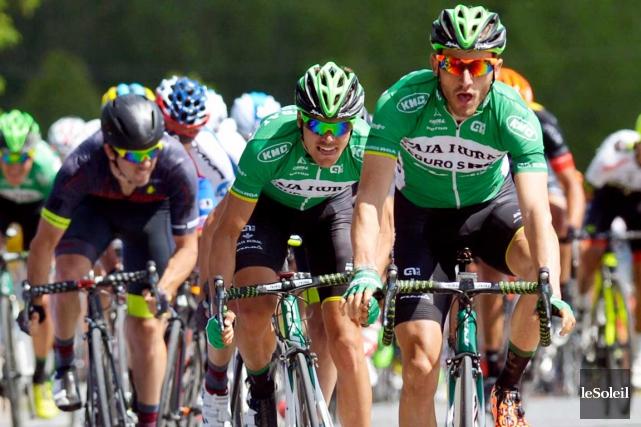 Carlos Barbero Cuesta a devancé au sprint Eduard... (Photo Le Soleil, Jean-Marie Villeneuve)