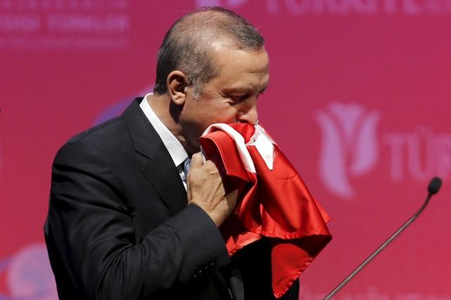 Lors de son discours, M.Erdogan a pris acte... (PHOTO UMIT BEKTAS, REUTERS)
