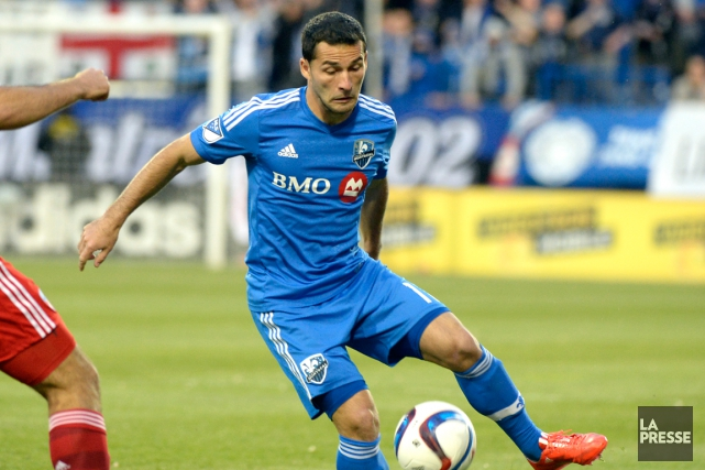 Dilly Duka, de l'Impact, a subi une commotion... (Photo Bernard Brault, archives La Presse)