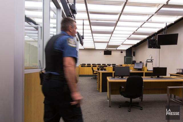 Les activités du palais de justice de Montréal ont été perturbées, jeudi matin... (PHOTO SIMON GIROUX, ARCHIVES LA PRESSE)