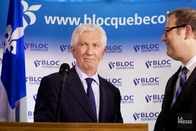Gilles Duceppe et Mario Beaulieu, mercredi.... (PHOTO ALAIN ROBERGE, LA PRESSE)