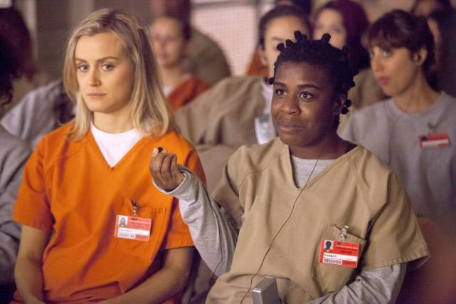 Piper Chapman (à gauche), interprétée par Taylor Schilling,... (Photo Netflix)