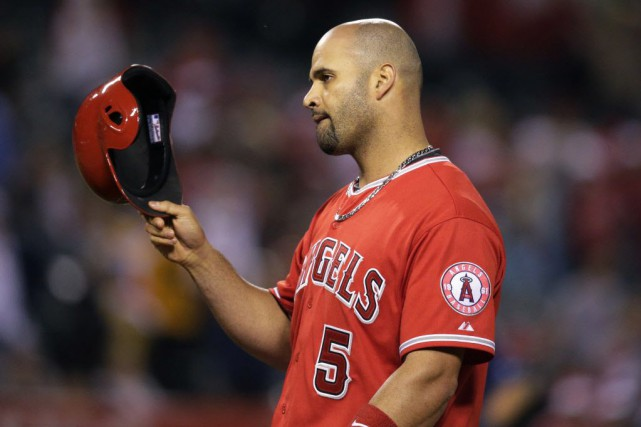 Albert Pujols... (Photo Jae C. Hong, AP)