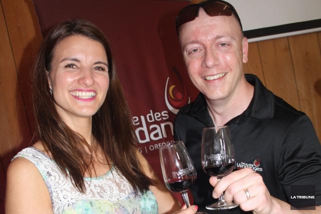 Jessica Harnois et Jérémy Parent... (La Tribune, Jean-François Gagnon)