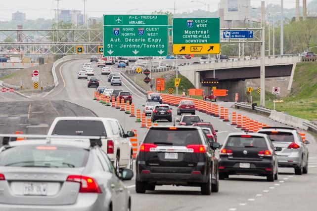 Les automobilistes devront s'armer de patience en fin... (PHOTO EDOUARD PLANTE-FRÉCHETTE, ARCHIVES LA PRESSE)