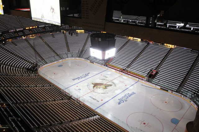 Le Gila River Arena, où évoluent les Coyotes... (Photo Ross D. Franklin, archives AP)