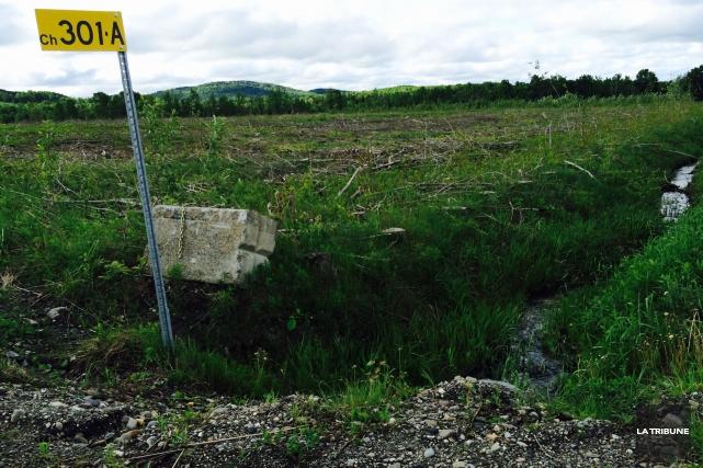 Non loin du village de Sainte-Catherine-de-Hatley, la compagnie... (La Tribune, Claude Plante)