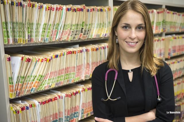La docteure Ariane Gauthier s'est jointe à l'équipe... (Photo: Stéphane Lessard, Le Nouvelliste)