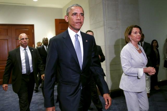 Le président Obama s'est rendu en personne au... (PHOTO KEVIN LAMARQUE, REUTERS)