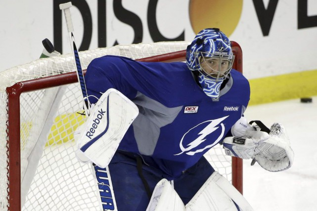Ben Bishop a cédé sa place à Andrei Vasilevskiy... (PHOTO CHRIS O'MEARA, AP)