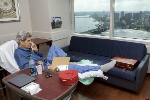 John Kerry avait tweeté mardi qu'il se «sen(tait)... (Photo Département d'État / AP)