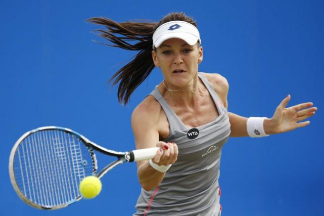 Agnieszka Radwanskafera face à Monica Niculescu dans le... (PHOTO ANDREW BOYERS, REUTERS)