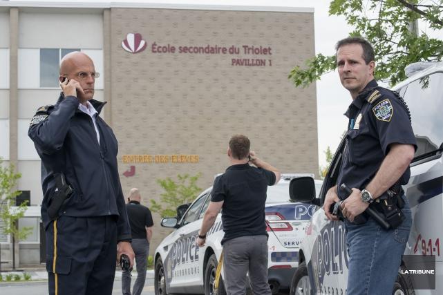 Un important dispositif policier avait été mis en... (Archives La Tribune)