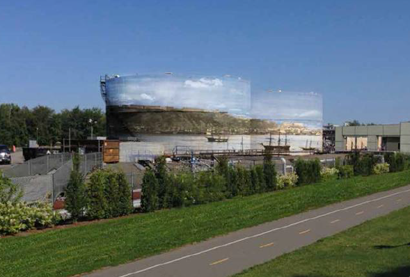 Une fresque géante de type trompe-l'oeil, avec ciel... (Image fournie par Valero)