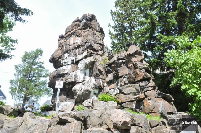 Le fameux rocher de Grand-Mère.... (Photo: Émilie O'Connor, Le Nouvelliste)