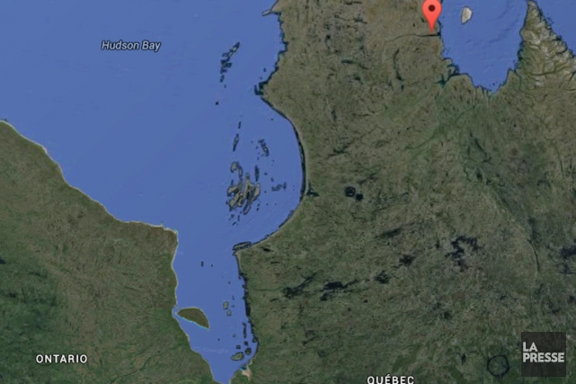Un écrasement d'avion a fait trois morts jeudi soir dans le Grand Nord... (Photo Google Maps)