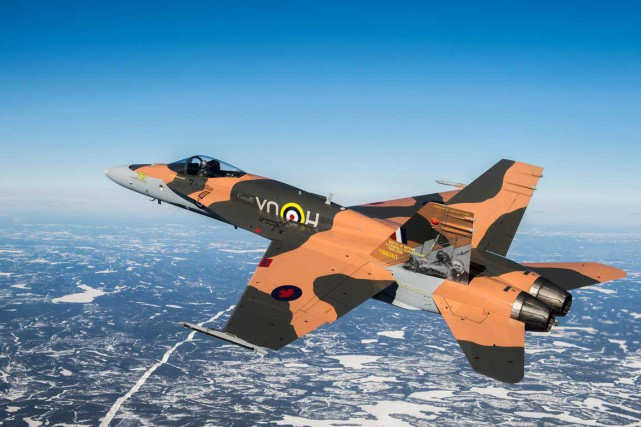 Le CF-18 de démonstration des Forces armées canadiennes... (Photo fournie par les Forces armées canadiennes)