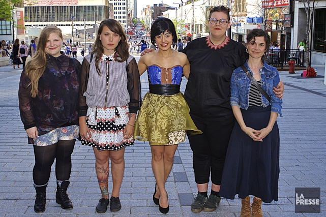 Sarah Bourdon, Rosie Valland, Sally Folk, Safia Nolin... (Photo André Pichette, La Presse)