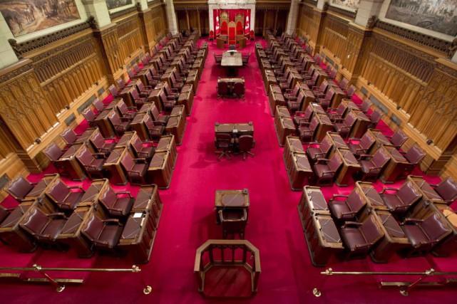 Trouver des bureaux temporaires pour le Sénat pendant les rénovations au... (Photo Adrian Wyld, Archives La Presse canadienne)