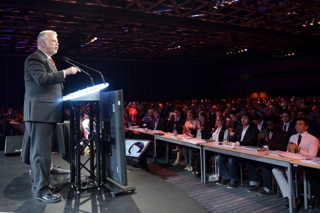 Philippe Couillard au Congrès du Parti libéral du... (La Presse Canadienne)