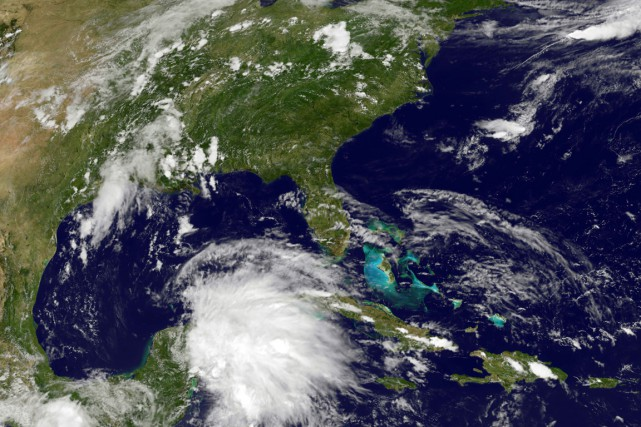 L'ouragan Carlos s'est formé samedi dans l'océan Pacifique, au sud... (Photo fournie par la NASA)