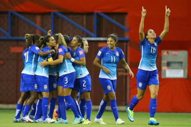 Le Brésil, qui avait battu la Corée du... (Photo Jean-Yves Ahern, USA Today)