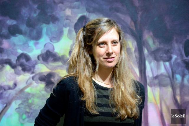 Les toiles d'Andrea Mortson sont enveloppées d'une lumière... (Le Soleil, Erick Labbé)