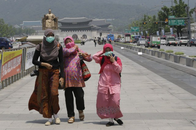 Il n'existe aucun vaccin ou traitement pour ce... (Photo Ahn Young-joon, AP)