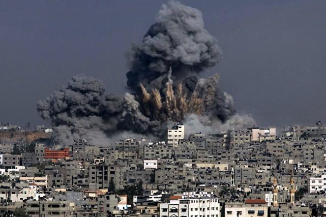 Le 8 juillet 2014, Israël avait lancé une... (PHOTO ASHRAF AMRA, AFP)