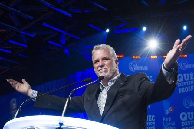 Le premier ministre du Québec, Philippe Couillard, ce... (Photo Graham Hughes, PC)