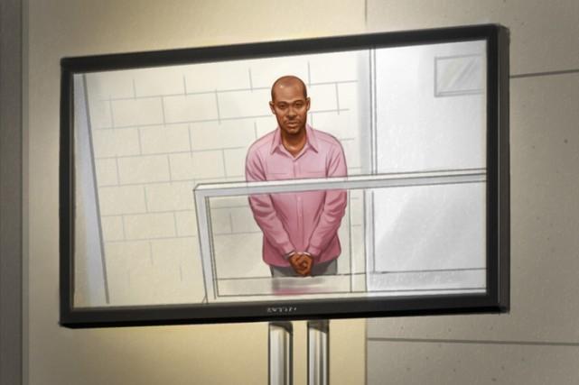 Ali Omar Ader dans uneesquisse de cour.... (Photo: PC)