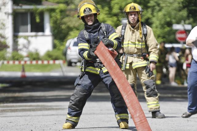 Les pompiers ont dû faire une course à... (photo Julie Catudal)