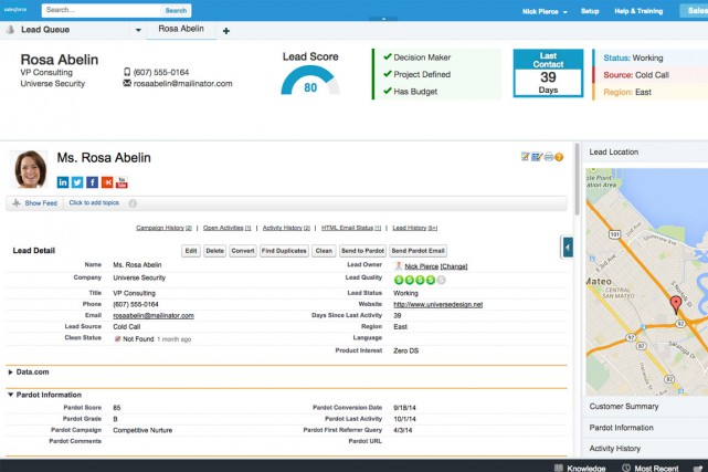 Module des ventes de Salesforce.... (PHOTO FOURNIE PAR SALESFORCE)