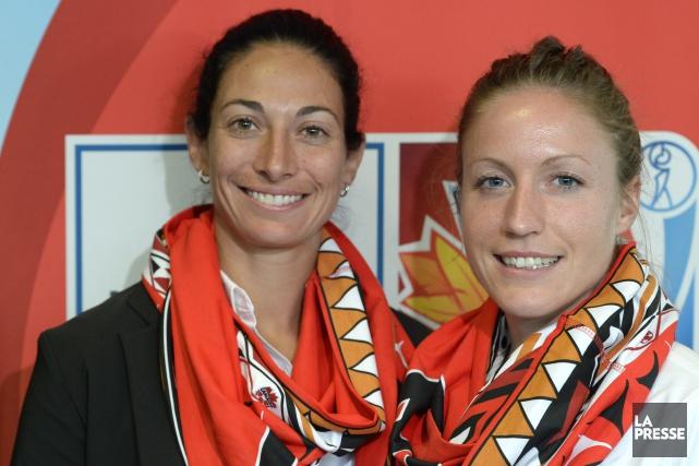 Marie-Eve Nault et JoséeBélanger... (Photo La Presse)