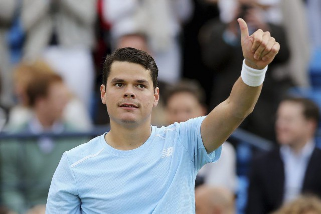 Milos Raonic... (PHOTO PAUL CHILDS, REUTERS)