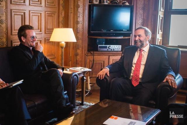 Bono a notamment rencontré le chef néo-démocrate Thomas... (Photo: Reuters)