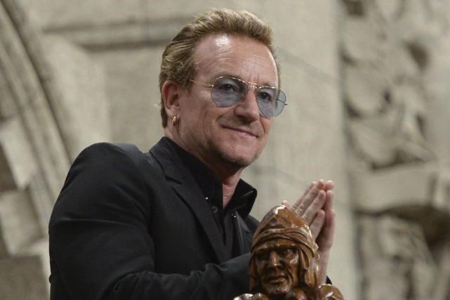 Le chanteur de U2, Bono, a assisté à... (Sean Kilpatrick, La Presse Canadienne)