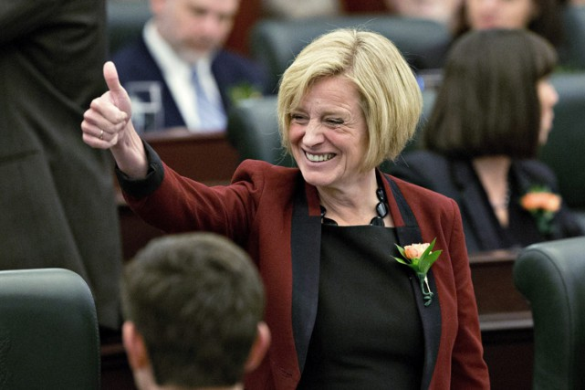 La chef du NPD en Alberta Rachel Notley.... (Photo: PC)