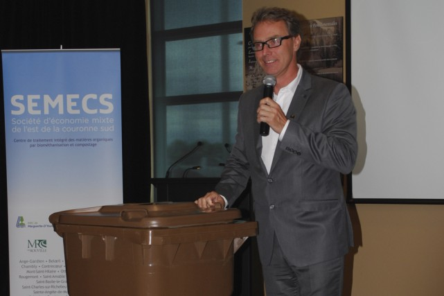 Le président de la SÉMECS, Martin Damphousse, a... (photo Marie-Ève Martel)