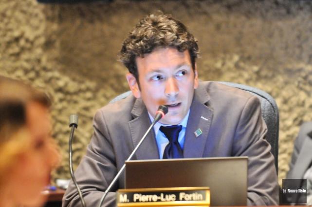 Le conseiller Pierre-Luc Fortin... (Photo: Émilie O'Connor, Le Nouvelliste)